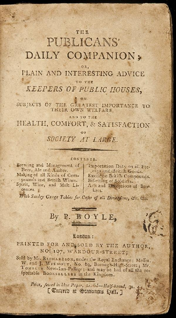 20: The Publicans' Daily Companion by Boyle