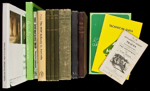 78: Small collection of books on hops