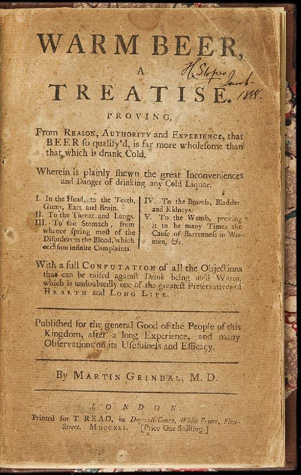 153: A treatise on Warm Beer 1741