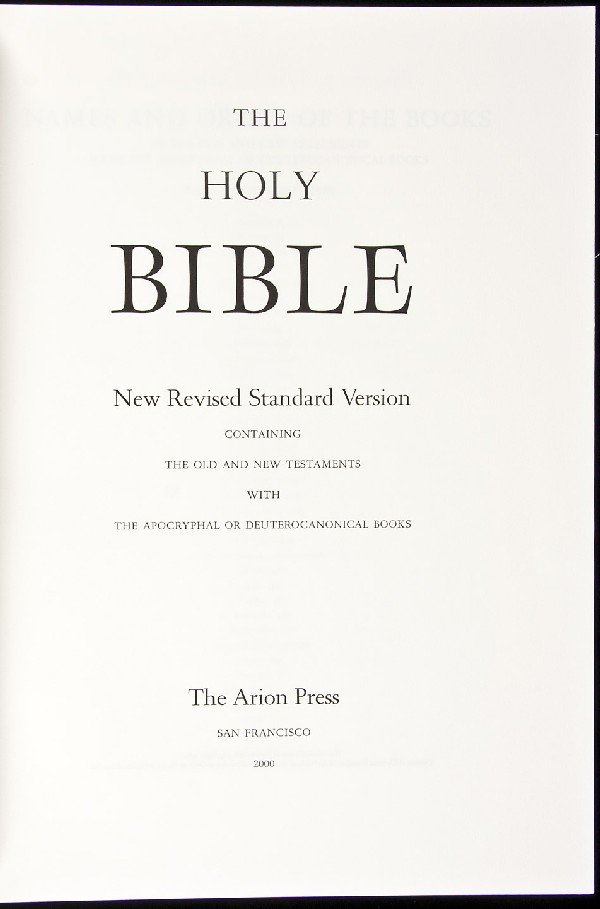 3: Arion Press The Holy Bible 2 vols. 1/400