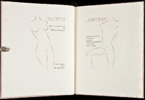 10: Venus & Adonis Arion Press 1975