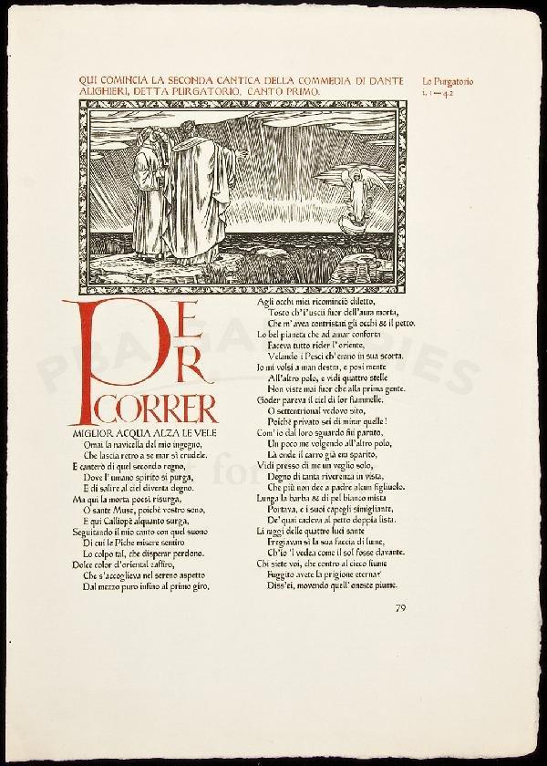 12: Proof Sheet from Ashendene Press Divine Comedy