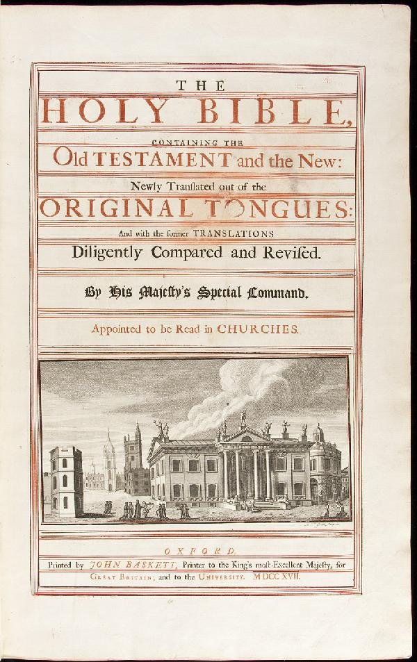 "18: Massive ""Vinegar"" Bible 1717"