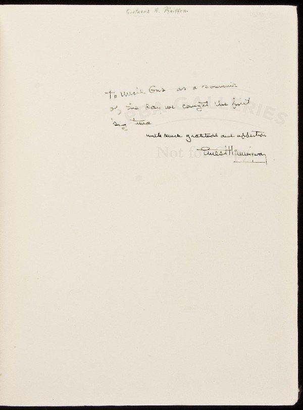 198: Inscribed by Hemingway, sketch by L.B. Hunt 1/56