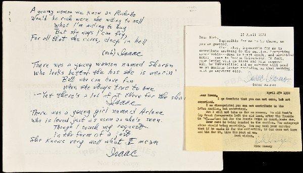 3: Isaac Asimov postcard and original limericks