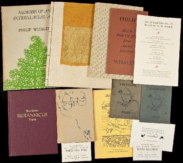 4: 15 vols + some ephemera from Auerhahn Press