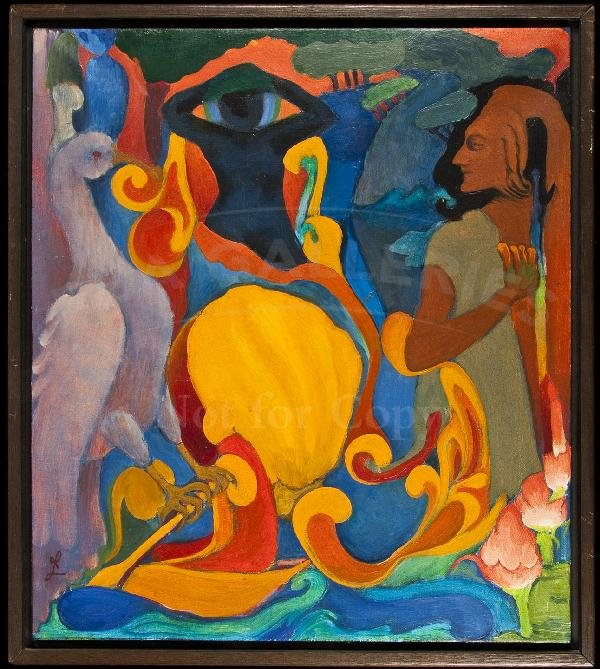 "5: ""Painting"" - original oil by Robert LaVine"