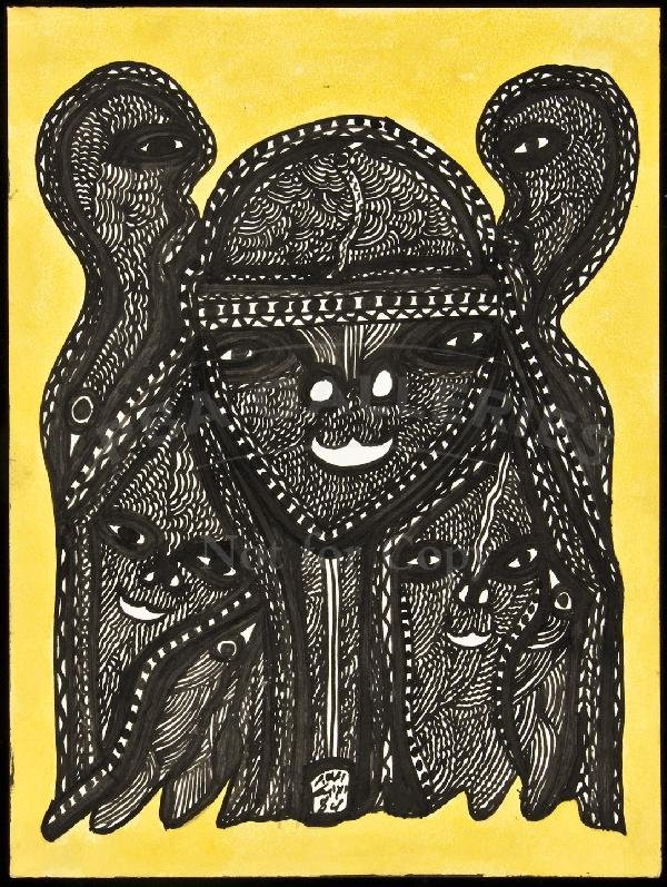 6: Untitled drawing by Mohammed Mrabet 1984