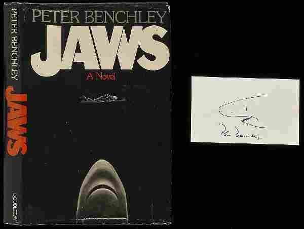 Peter Benchley Jaws First Edition W/ Signed Card
