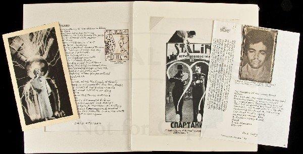 11: Jack Hirschman archive for Berman Wallace tribute