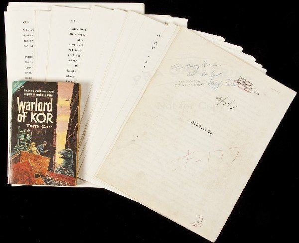 23: Original Typescript for Warlord of Kor