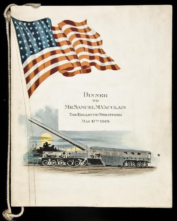 19: Dinner Menu Baldwin Locomotive President 1919