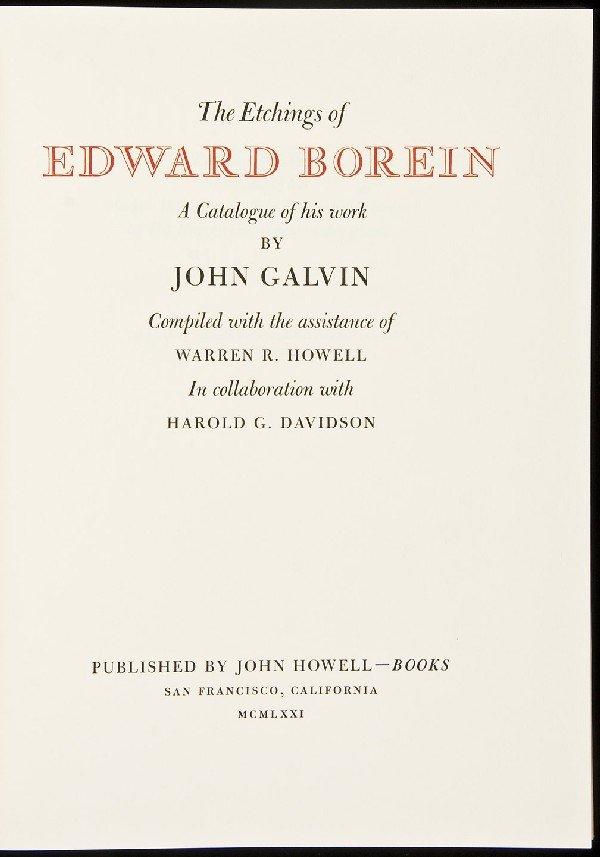 23: Etchings of Edward Borein-John Howell in dj
