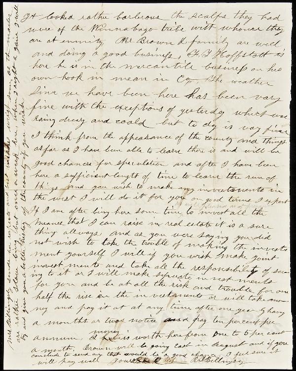 145: Letter from Minnesota settler 1856