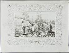 174 California Pictorial Letter Sheet The Miners