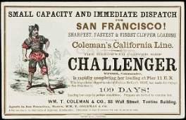 251: Clipper Ship Card for Challenger by Nesbitt
