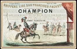 253: Clipper Ship Sailing Card - Champion by Nesbitt