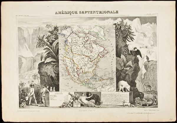 439: Levasseur map of North Amerca c.1845