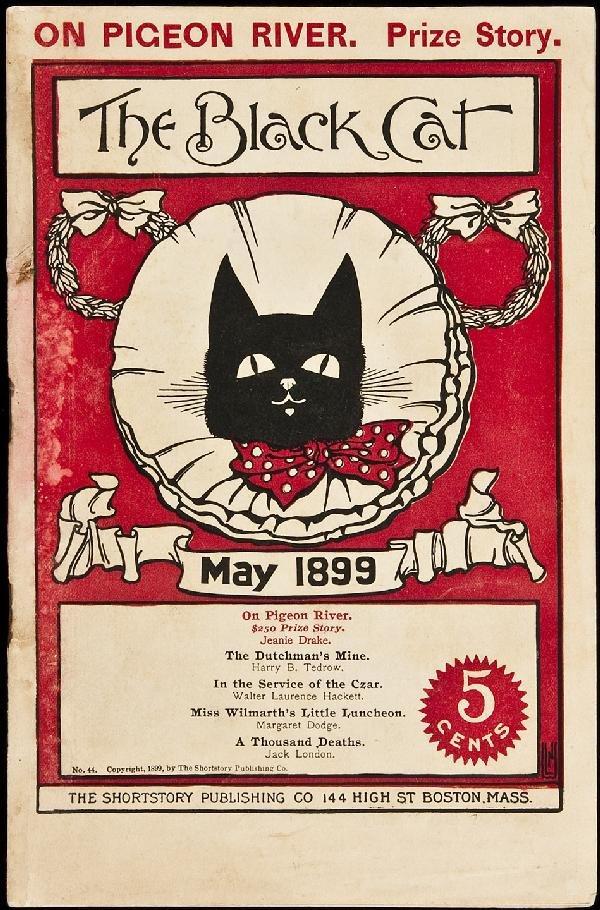 332: Jack London Thousand Deaths in Black Cat 1899