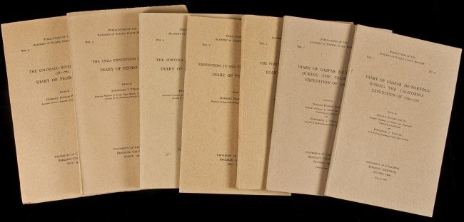 1: Academy of Pacific Coast History pubs 7 vols