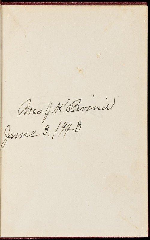 11: Memoirs by Mrs. JK Bivins, signed