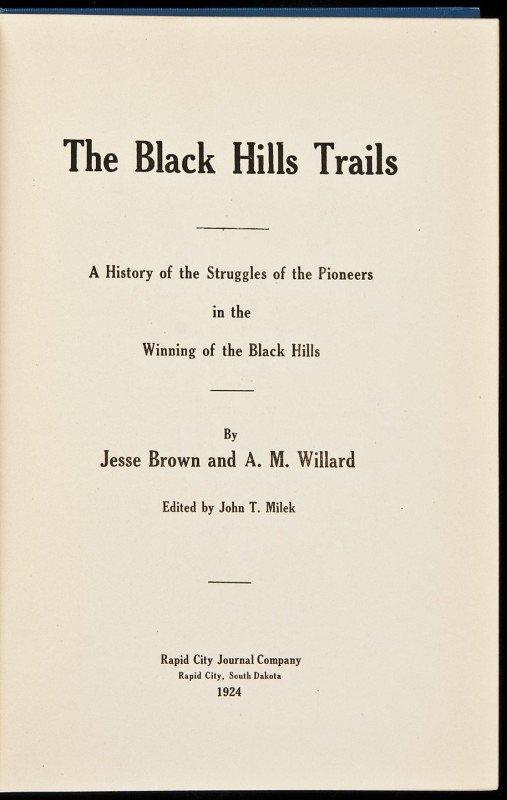 17: Black Hills Trails by Brown & Willard 1924