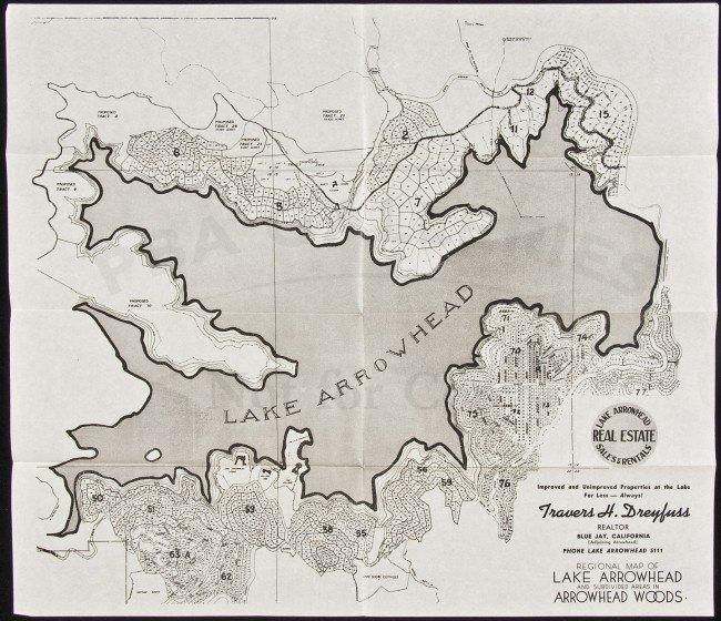 22: Regional Map subdivisions Lake Arrowhead, CA