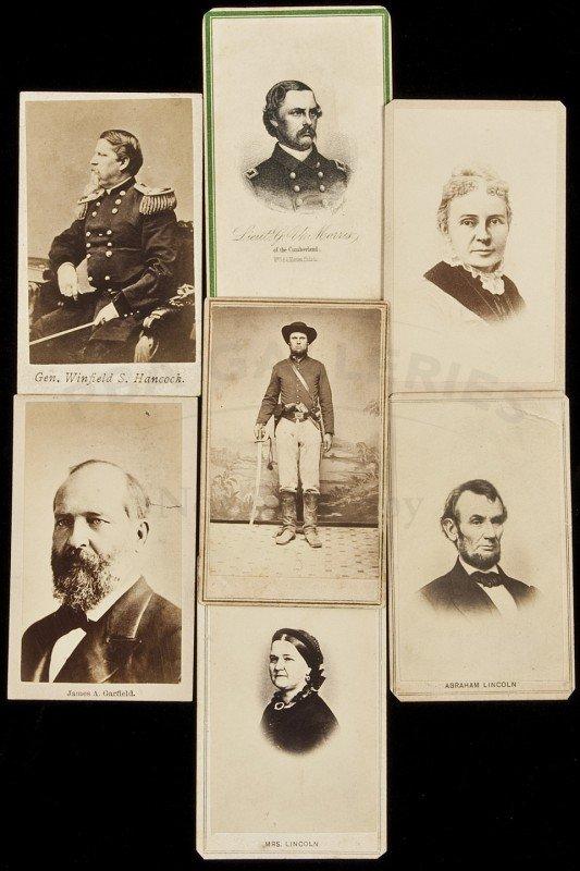 45: Seven cartes-de-visite of Civil War interest