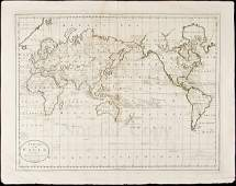 385: Carey's chart of Cook's discoveries, 1814