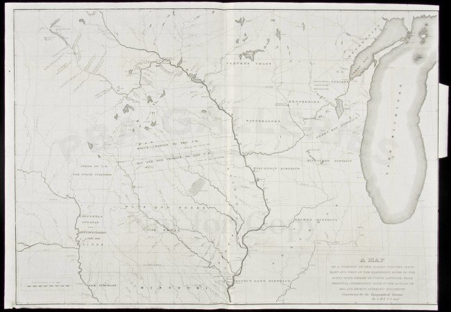 484: Map of Plains Indians country 1835