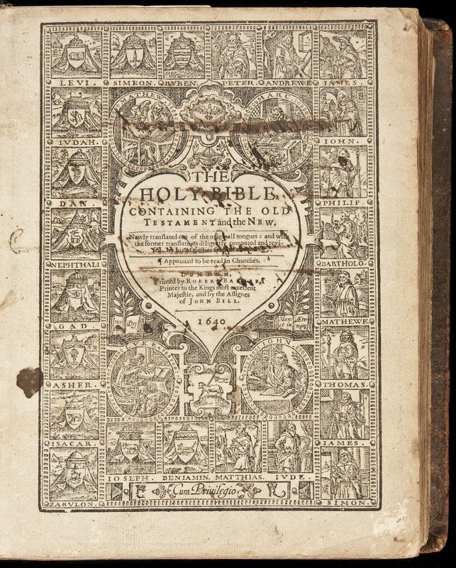 22: Bible in English 1640 Edition