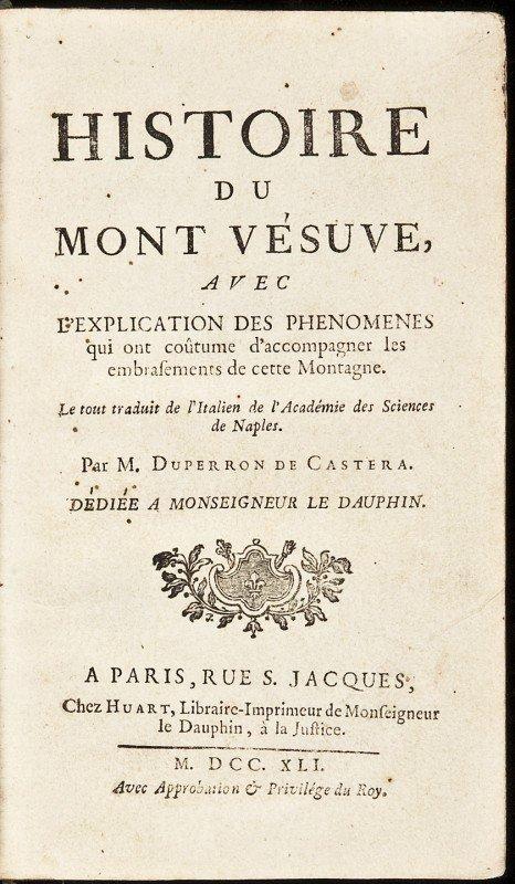 14: Histoire du Mont Vesuve by De Castera 1741