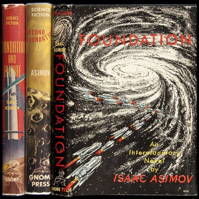 4: Asimov's Foundation Trilogy Inscribed 1st Edition