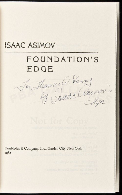 8: Isaac Asimov Foundation's Edge