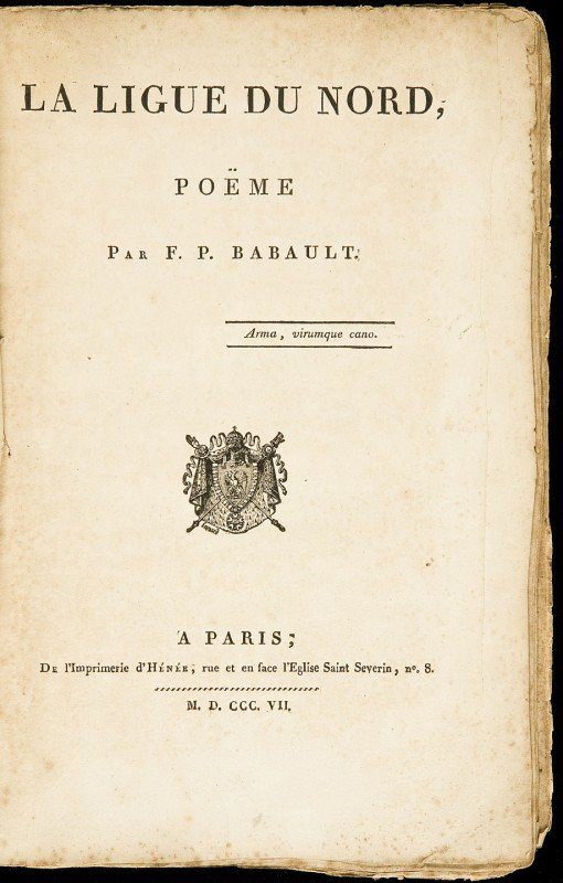 13: The Northern League, poem in French by FP Babault