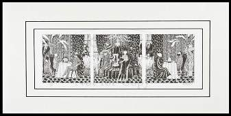 168 lmtd edition signals print signed by Edward Gorey