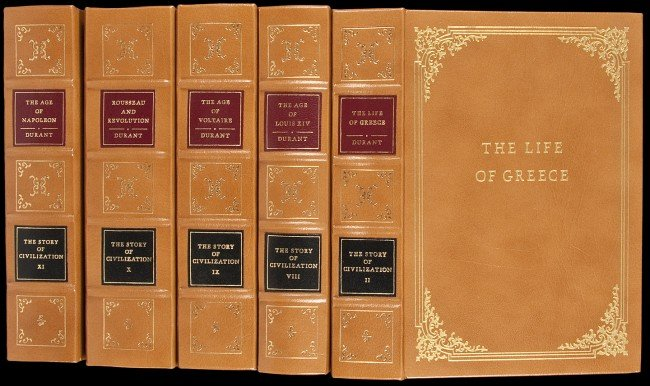 304: Easton Press Story of Civilization in 11 volumes