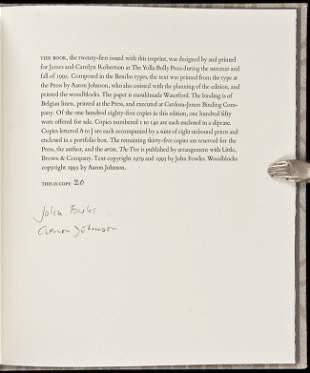 394: John Fowles Nature of Nature 1 of 140 copies