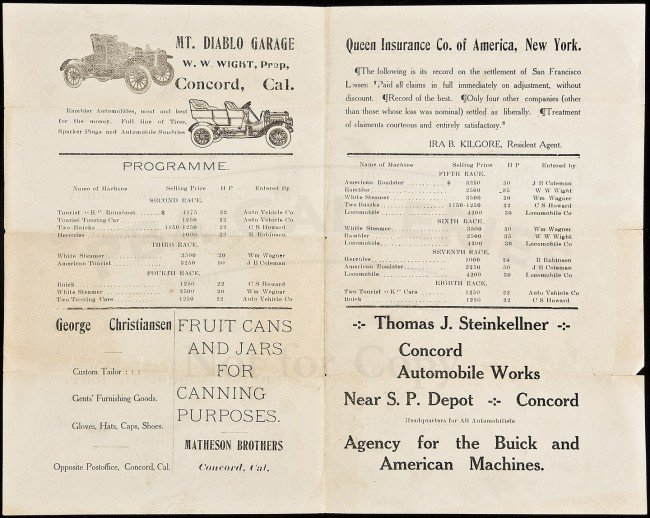 18: Flier for early automobile race 1907