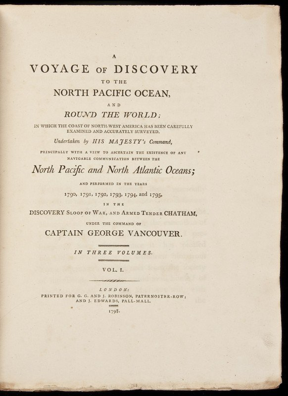 166: Vancouver's Voyage, 1st edition with Atlas