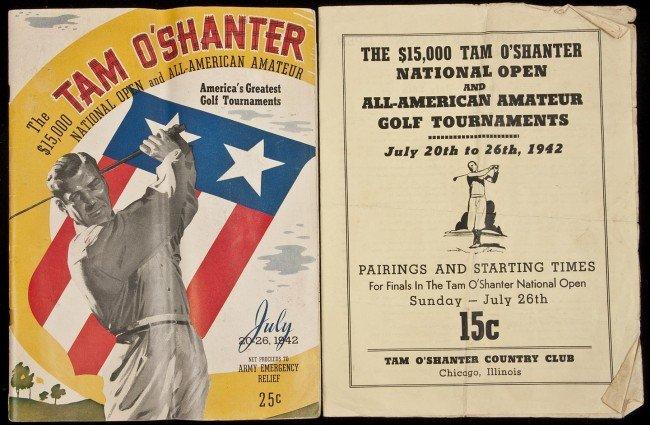 4: 1942 Tam O'Shanter Nat'l Open program rare