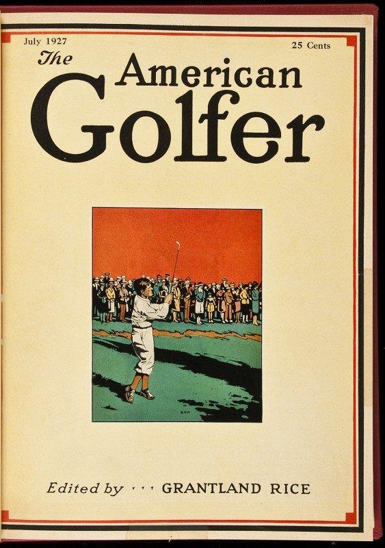 5: American Golfer magazines bound 1922-1932