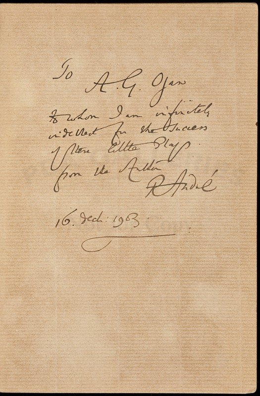 6: Golf Plays & Recitations inscribed by R. Andre 1s