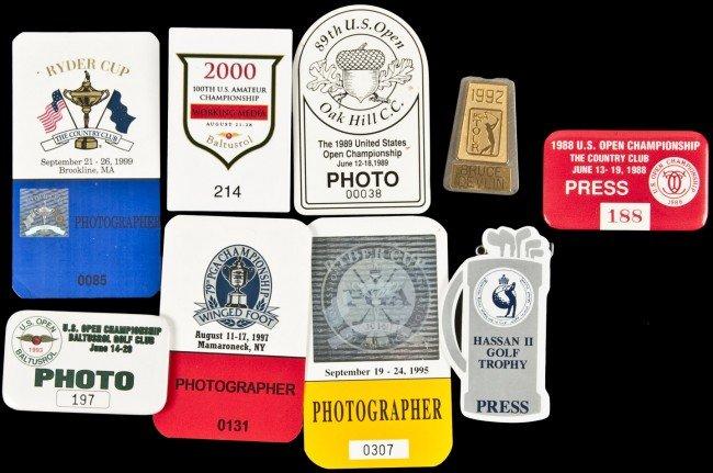 12: 9 press/media badges for golf tournaments