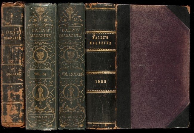 14: 4 bound vols of Baily's Magazine w/golf articles