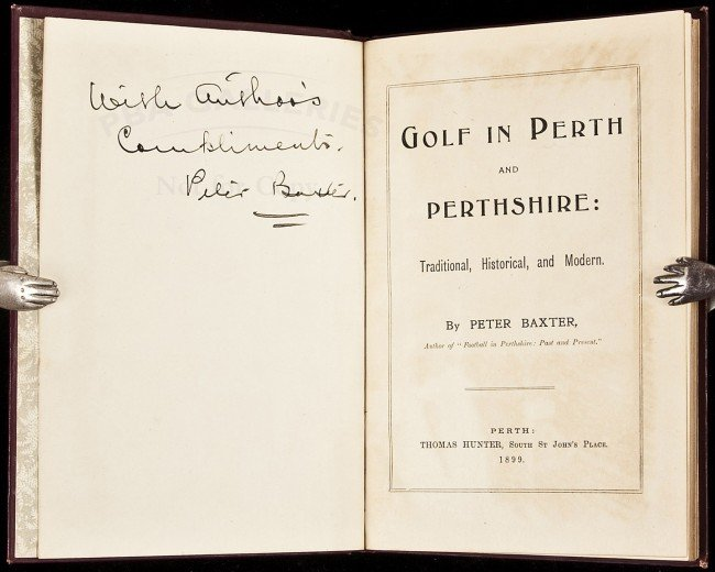 18: Golf in Perth & Perthshire signed by Baxter 1899