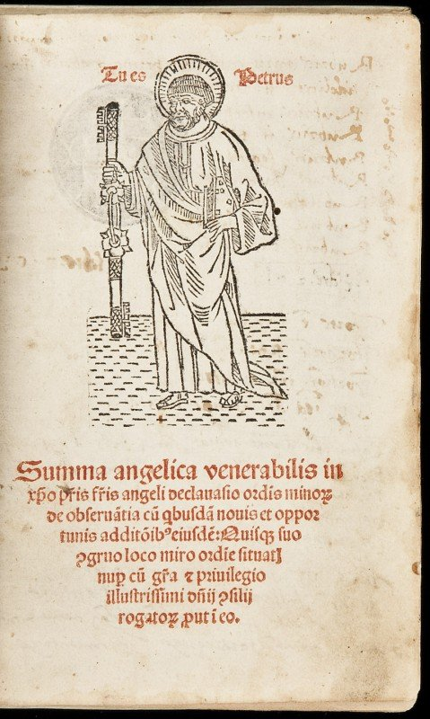6: Incunable edition of the Summa Angelica
