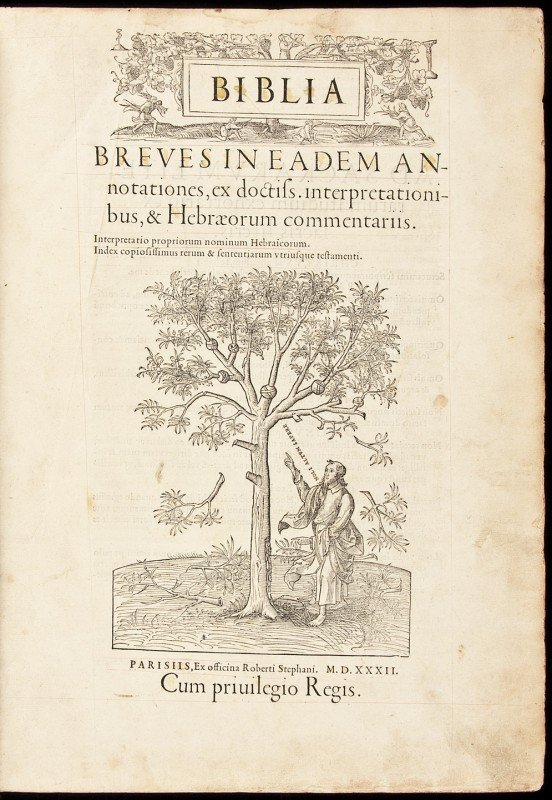 33: Estienne's 1532 folio Bible