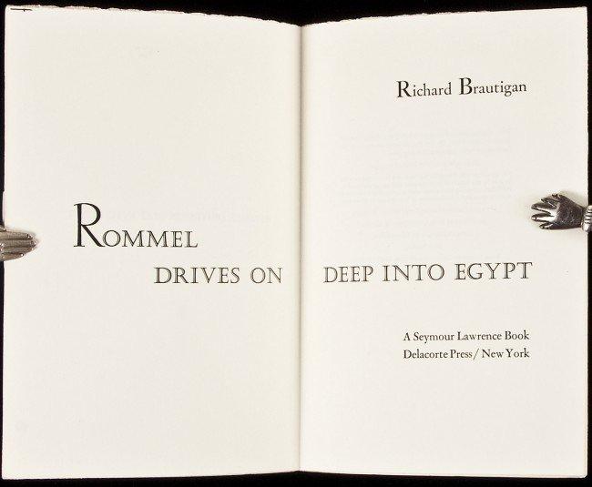 7: Brautigan's Rommel unbound sheets