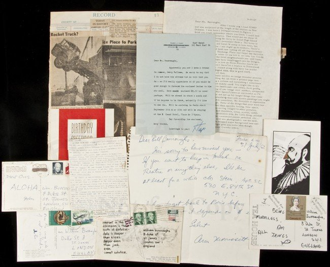 9: Archive of Letters re William S. Burroughs